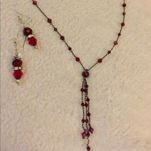 Red hot jewelry set
